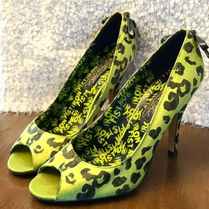 🐆Iron Fist Jungle Fever Green Leopard Heel